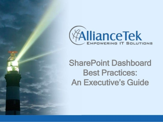 SharePoint Dashboard Best Practices: An Executive's Guide