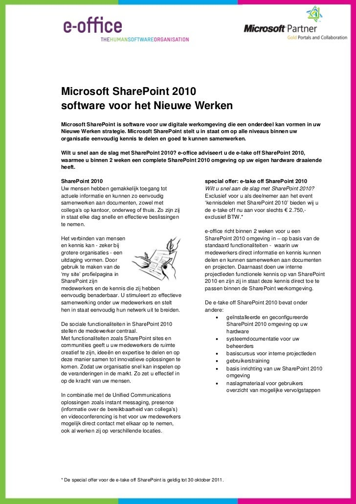 e-office SharePoint e-take off special offer