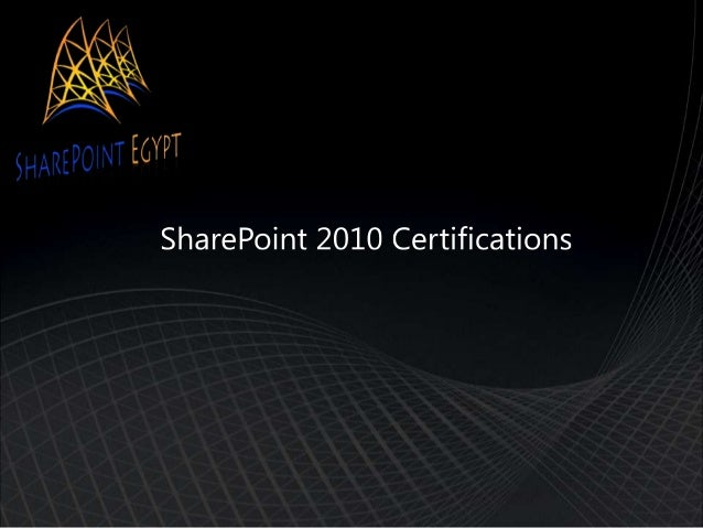 SharePoint 2010 Certifications