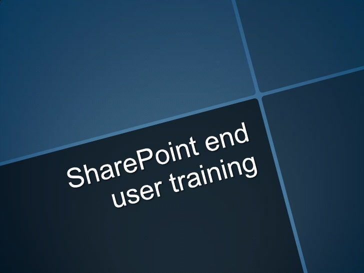 Share point end user training