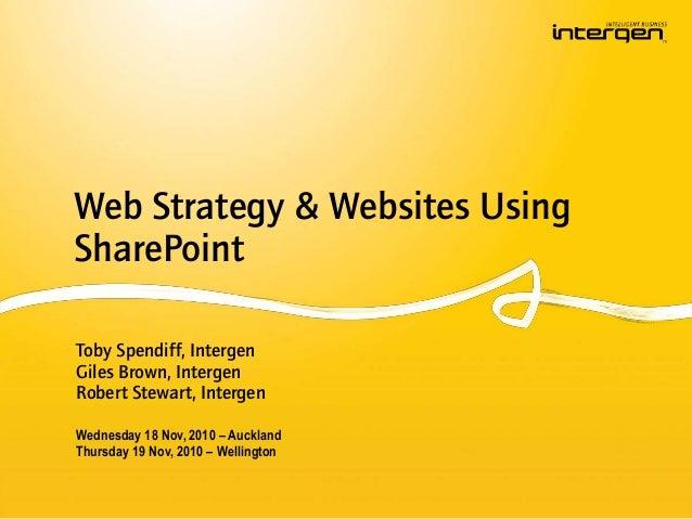 Web Strategy & Websites Using SharePoint