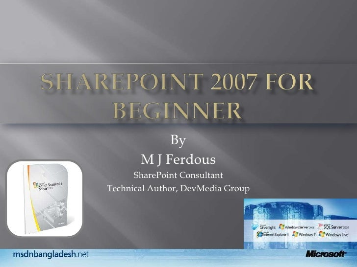 Share Point For Beginners V1