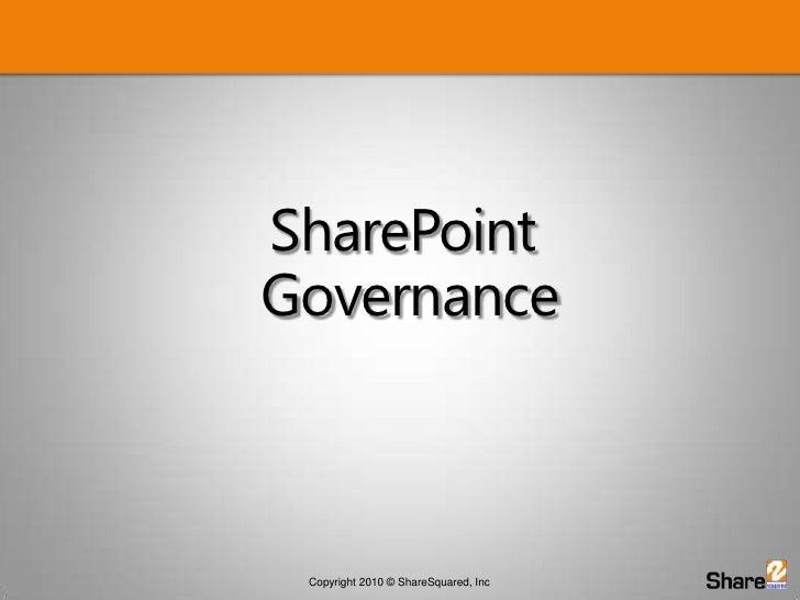 SharePoint Governance<br />
