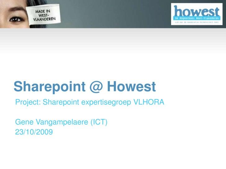 Sharepoint @ Howest - Voorstelling Vlhora