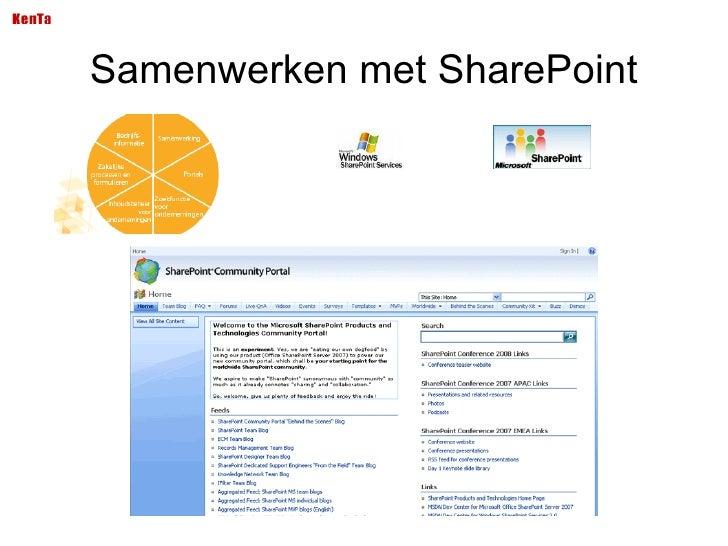 Samenwerken met SharePoint