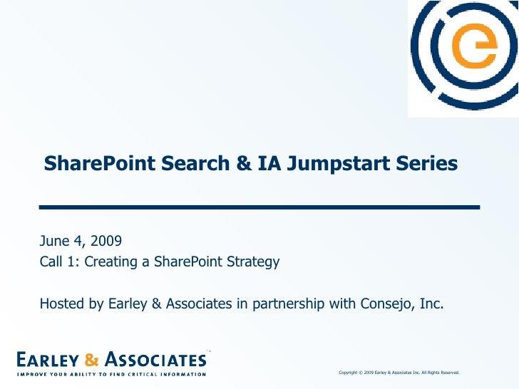 SharePoint Jumpstart #1 Creating a SharePoint Strategy