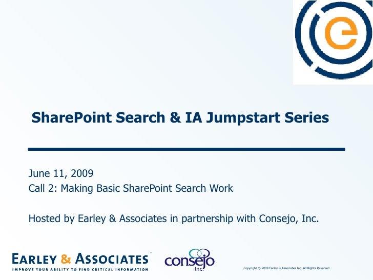 SharePoint Jumpstart #2 Making Basic SharePoint Search Work