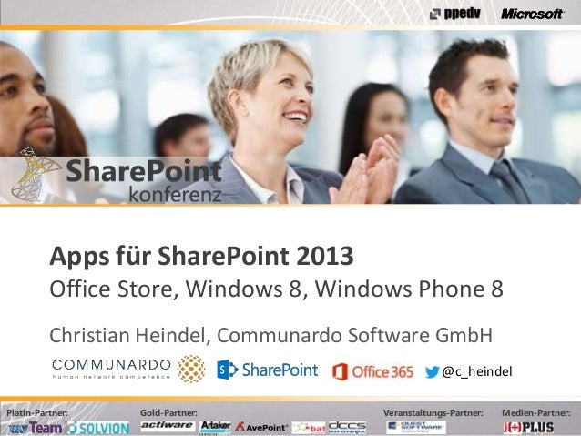 Apps für SharePoint 2013 (Office Store, Windows 8, Windows Phone 8)