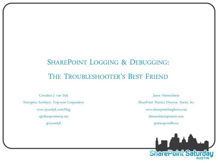 SharePoint logging  & debugging