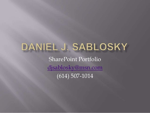 SharePoint Portfolio