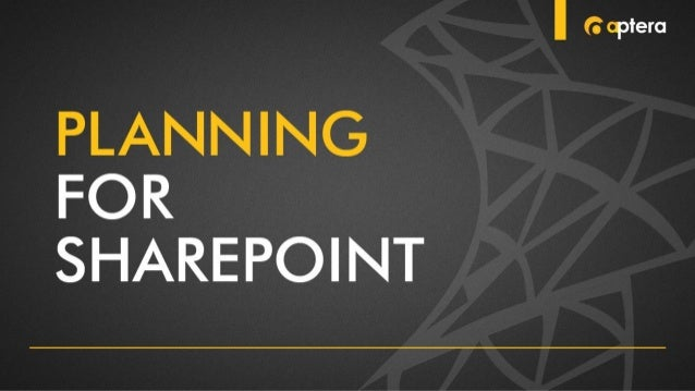 "Aptera Presents ""Planning for SharePoint"""