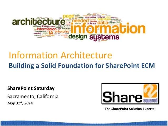 SharePoint Saturday - Information Architecture Design