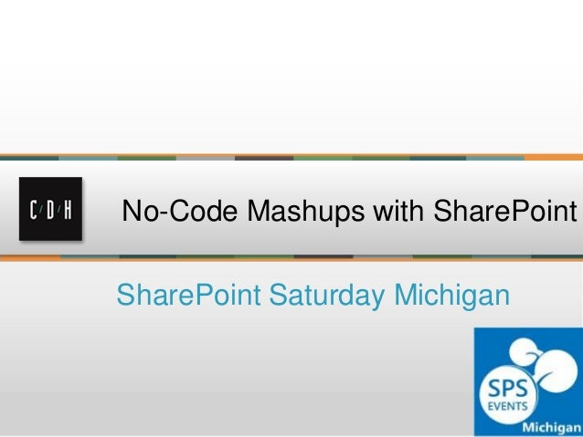 Dynamic no-code mashups in SharePoint 2010 and 2013