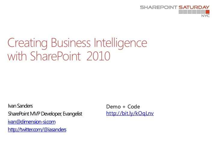 SharePoint Saturday NYC - Business Intelligence