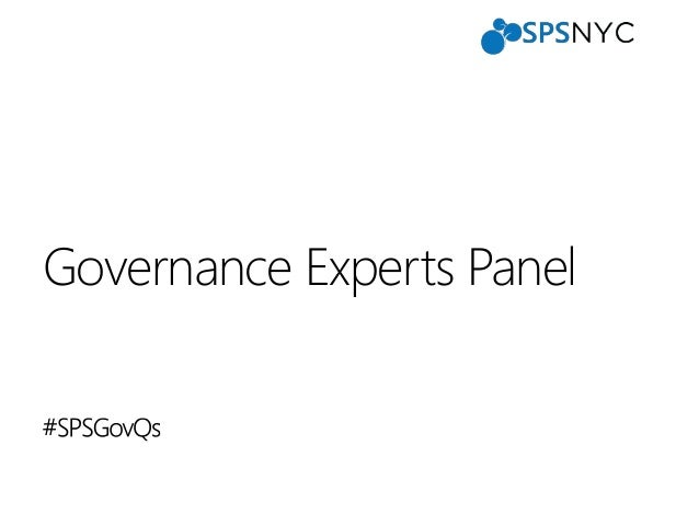 SharePoint Saturday New York 2013 - Governance Experts Panel