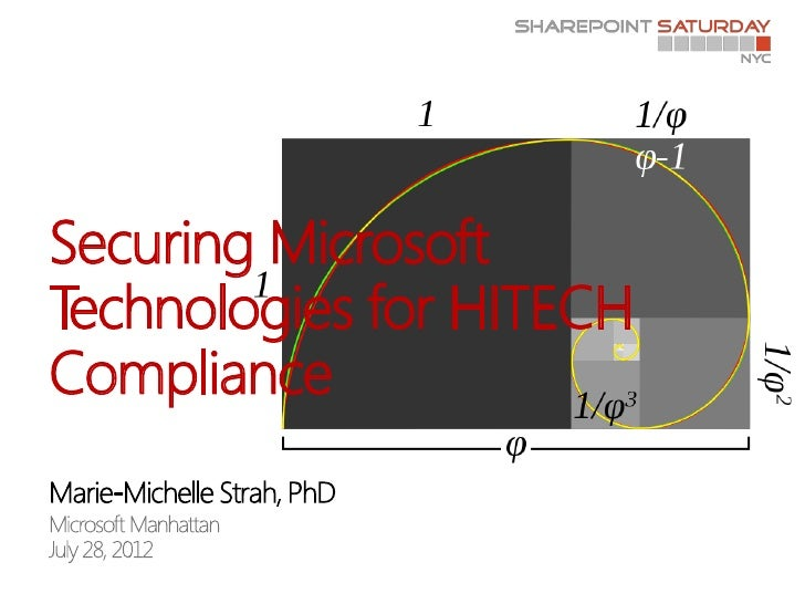 Securing MicrosoftTechnologies for HITECHCompliance
