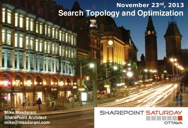 SharePoint Search Topology and Optimization