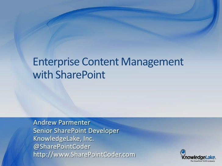 ECM with SharePoint - SPSOzarks