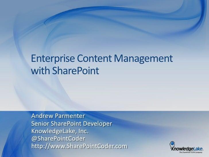 ECM with SharePoint - SPSOzarks