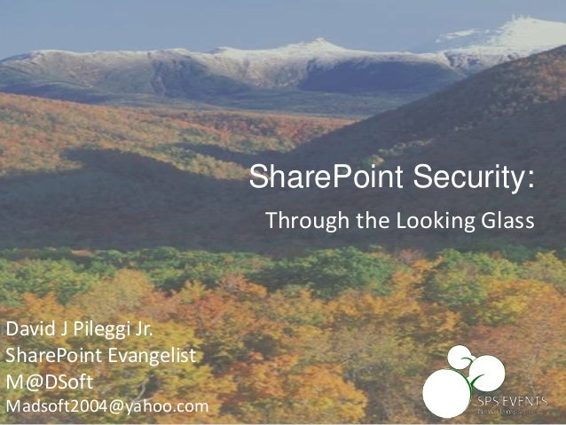 SharePoint Security: Through the Looking Glass