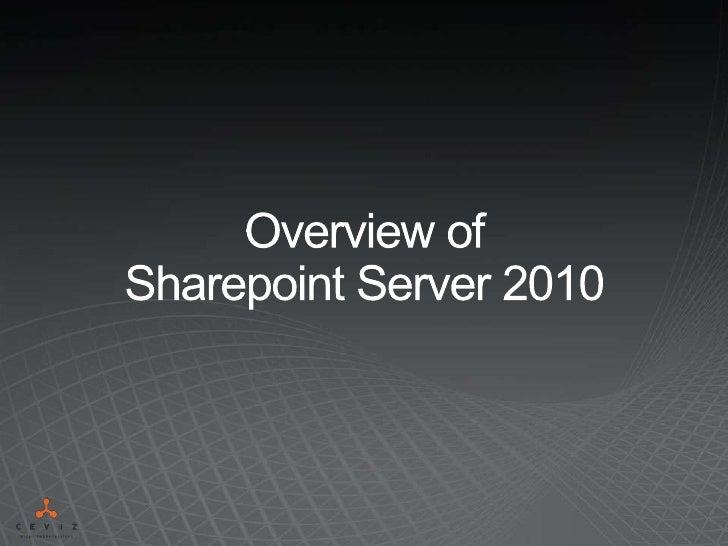 Sharepoint Server 2010 Genel Bilgilendirme