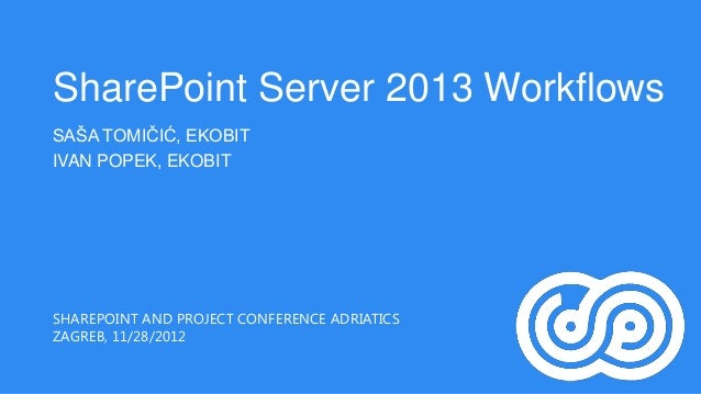 SharePoint Server 2013 Workflows