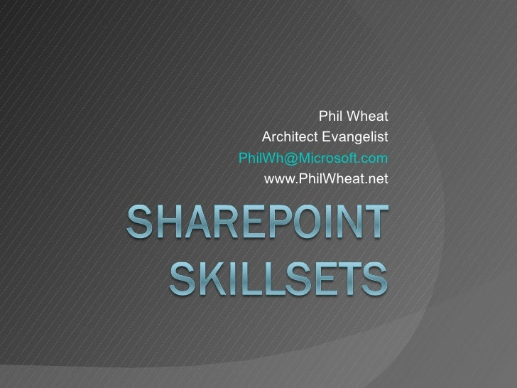 Share Point Skillsets