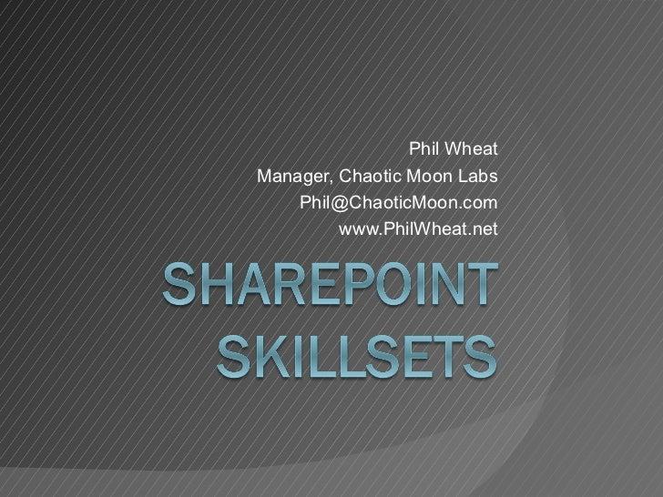 SharePoint Skillsets V2