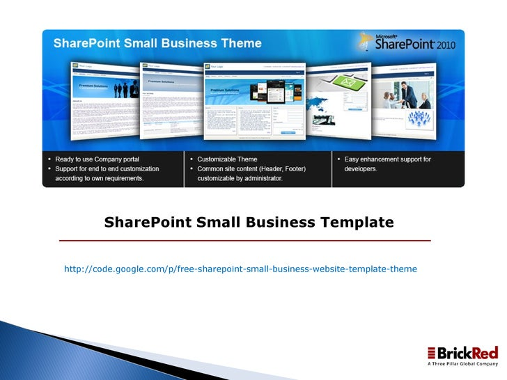 Sharepoint small business template