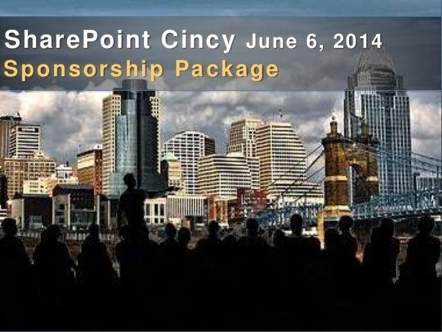 SharePoint Cincy June 6, 2014 Sponsorship Package