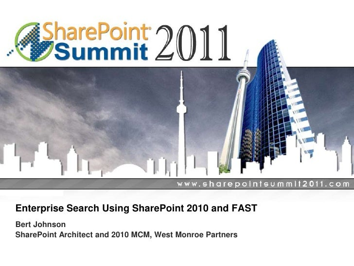 Enterprise Search Using SharePoint 2010 and FAST
