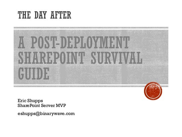 The SharePoint Survival Guide Top 10