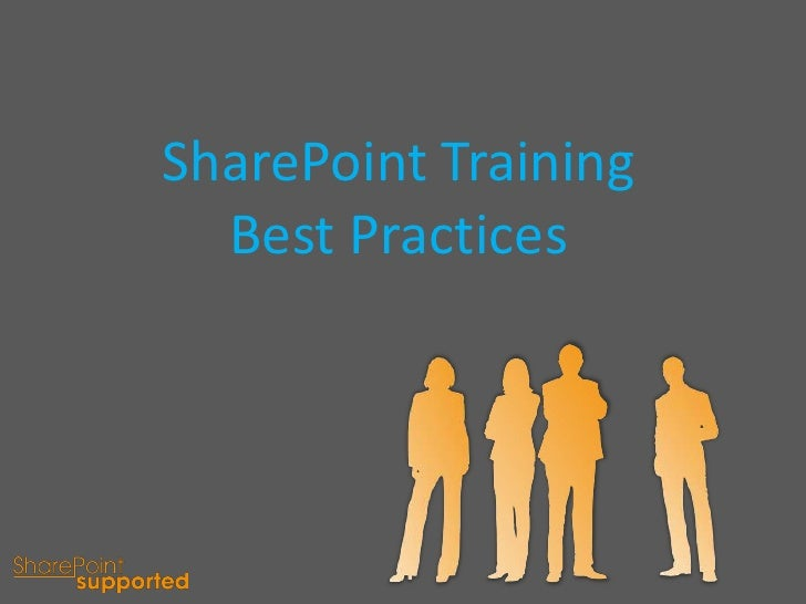 SharePoint Training Best Practices