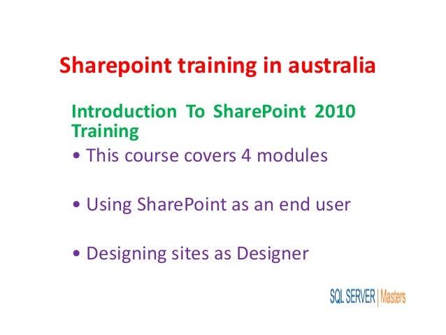 Sharepoint training in australia