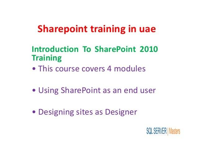 Sharepoint training in uae