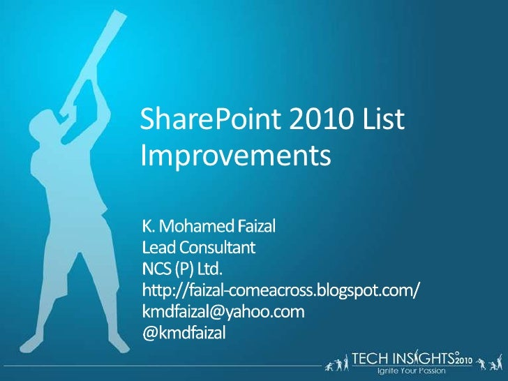 SharePoint 2010 list improvements