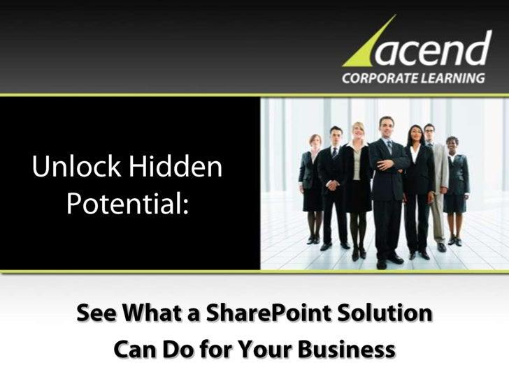 Sharepoint Unlock Hidden Potential