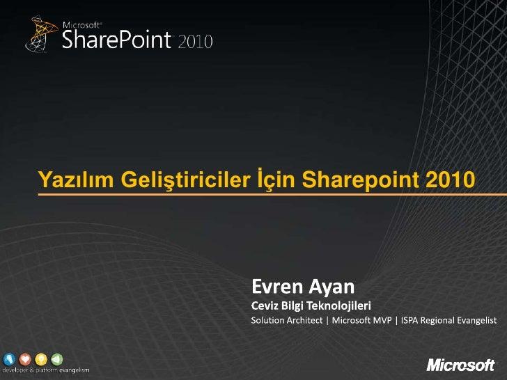 Yazılım Geliştiriciler İçin Sharepoint 2010