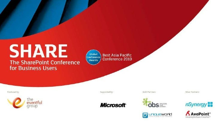 Share Australia - Looking to the future - SharePoint in the Cloud
