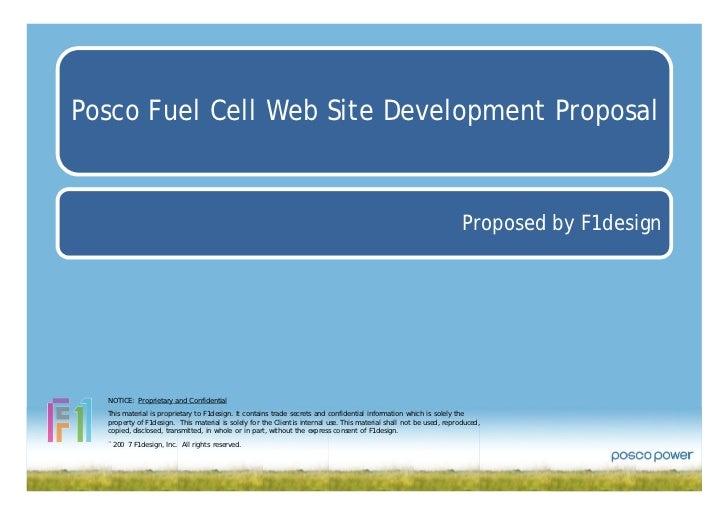 Posco Fuel Cell Web Site Development Proposal                                                                             ...