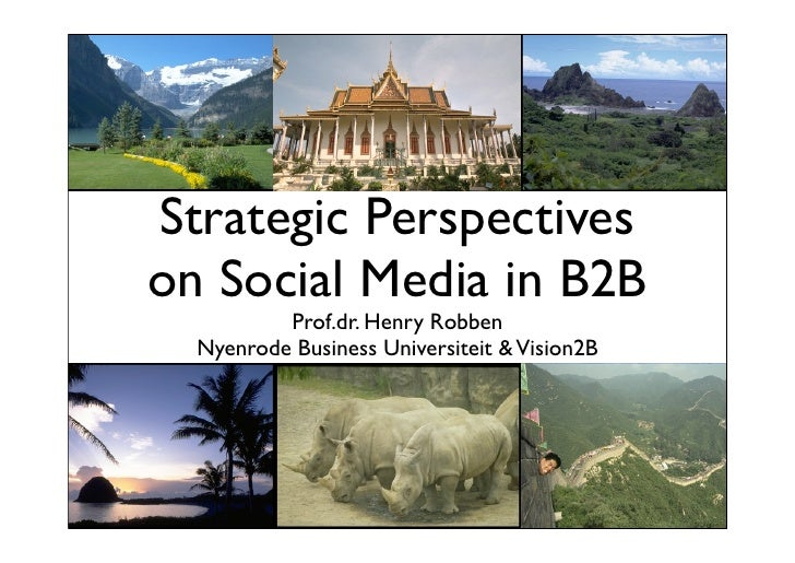Strategic Perspectiveson Social Media in B2B          Prof.dr. Henry Robben  Nyenrode Business Universiteit & Vision2B