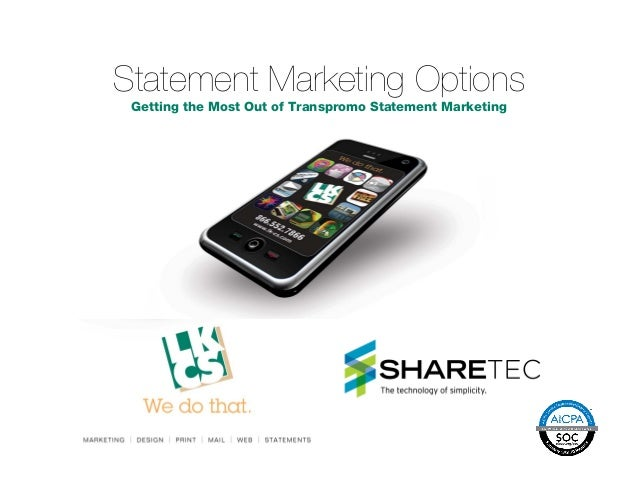 Sharetec statement marketing & transpromo