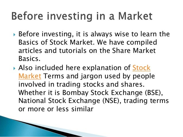 The stock and share Market?