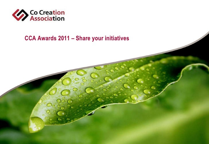 CCA Awards 2011 – Share your initiatives<br />