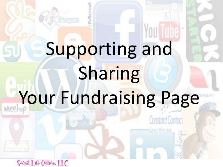 Supporting and Sharing Your Fundraising Page<br />