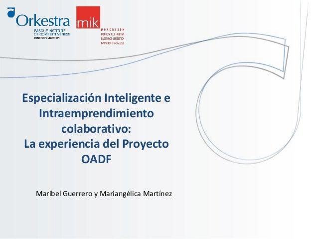 Especialización Inteligente e Intraemprendimiento colaborativo