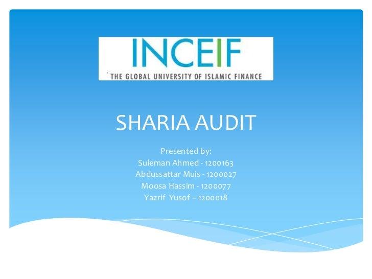 Shariah audit presentation   suleman