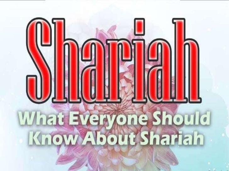 Sharia whateveryoneshouldknow