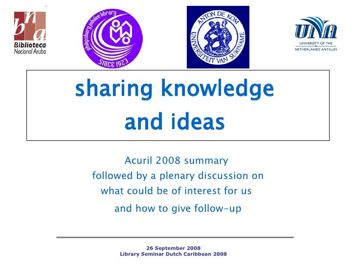 Sharing Knowledge Acuril08 MG