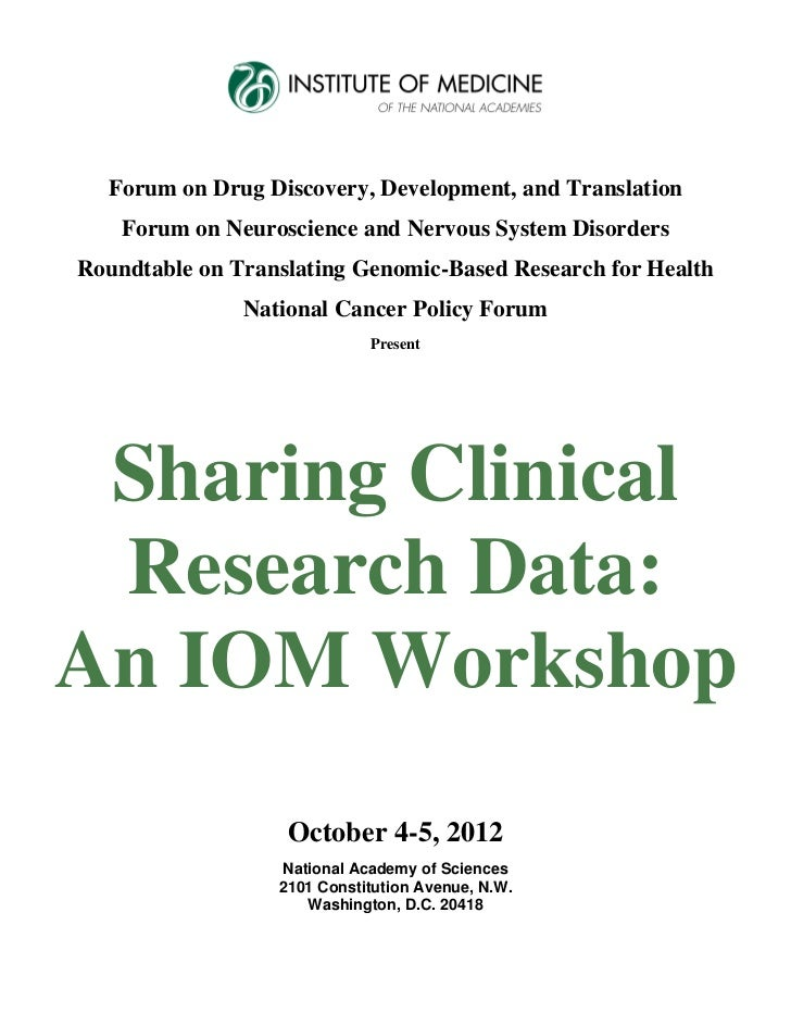 Forum on Drug Discovery, Development, and Translation    Forum on Neuroscience and Nervous System DisordersRoundtable on T...